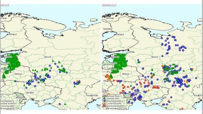 ASP-Ausbrüche in Russland und der Ukraine in den Jahren 2015 und 2016