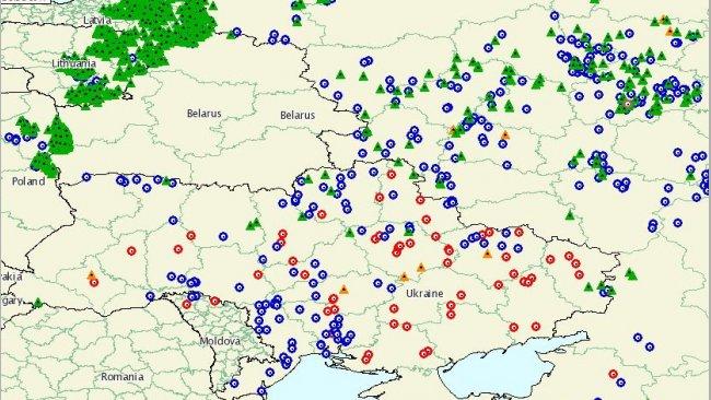 Seit 2014 von der ASP betroffene Gebiete. Lwiw ist die einzige Oblast, die noch von der Seuche verschont geblieben ist.
