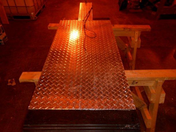 Abbildung 1: Aktueller Prototyp des Purdue Kühlpaneels