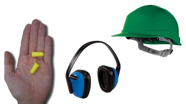 Richtig sitzende Ohrstöpsel können Lärm gut dämpfen. Gleich wirksam oder noch effektiver sind Schallschutz-Kopfhörer, doch erschwert dies das Tragen vonKappen oder Mützen.