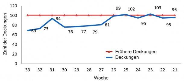 Abbildung 1: Verlauf der Deckungen im Betrieb