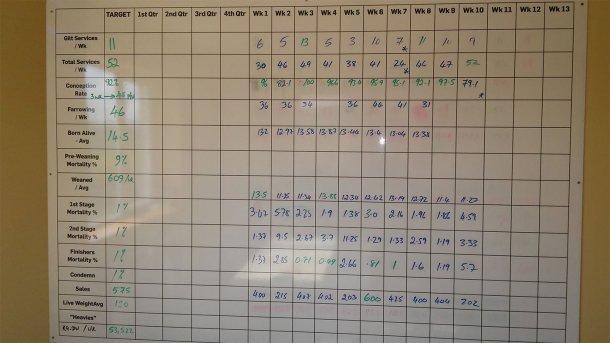 Abbildung 3: Wöchentliche Leistungen des Betriebs bis September 2017