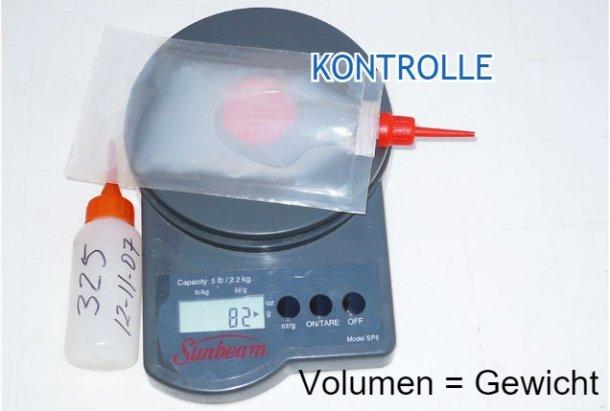 Foto 3. Gewicht der korrigierten Dosis