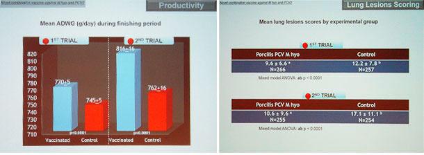 Die mit der Impfung mit Porcilis PCV M Hyo erzielten Erfolge wurden durch Daten aus Feldversuchen belegt.