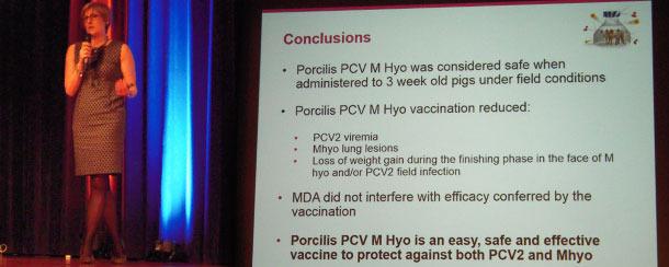 Rika Jolie erläuterte die Wirksamkeits- und Sicherheitsergebnisse des Impfstoffs eingehend anhand der Daten aus verschiedenen Tests.